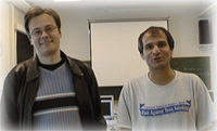 Contact person, Anssi Yli-Jyrauml; and techer Mehryar Mohry, May 2003, Helsinki